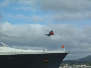 QE2 and ace of clubs