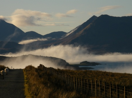 Glamaig, Raasay narrows and the red Cuillins