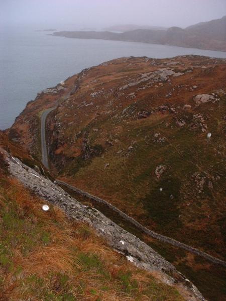 Rainy's wall and Calum's road