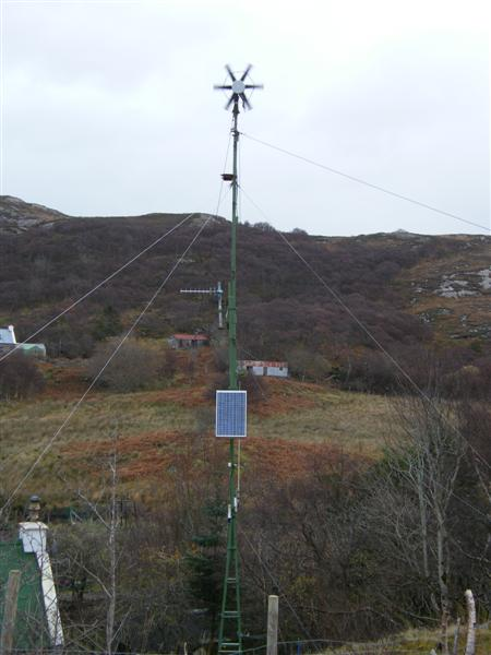 Wind, solar, VHF and GSM