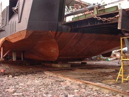 Loch Alainn hull and 5 bladed Voith unit