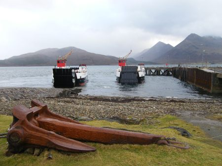 Two ferries and a big anchor!