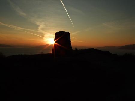 'Calum's cairn' at daybreak