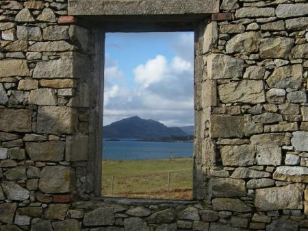 Ben Tianavaig through the window