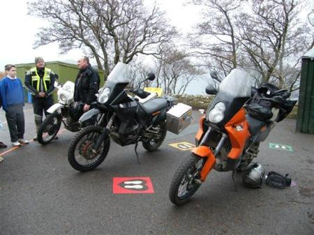 Two KTM 990 EFI's and a BMW GS