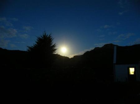 7 o clock moonrise