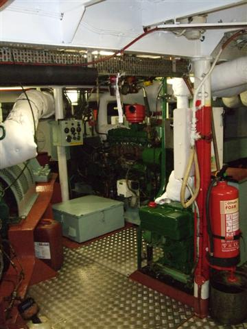 Loch Striven engine room 13/3/09