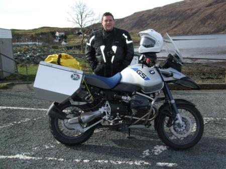 Richard and his BMW GSE