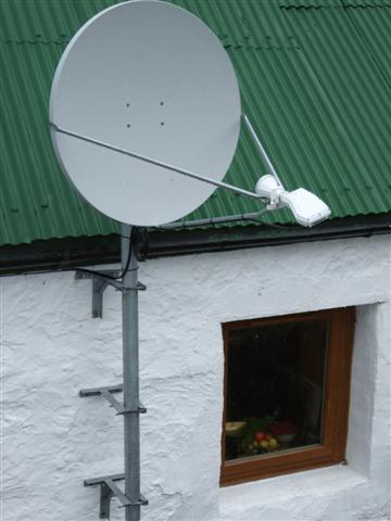 Satellite broadband dish