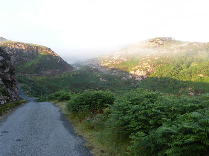 'Calum's misty road'