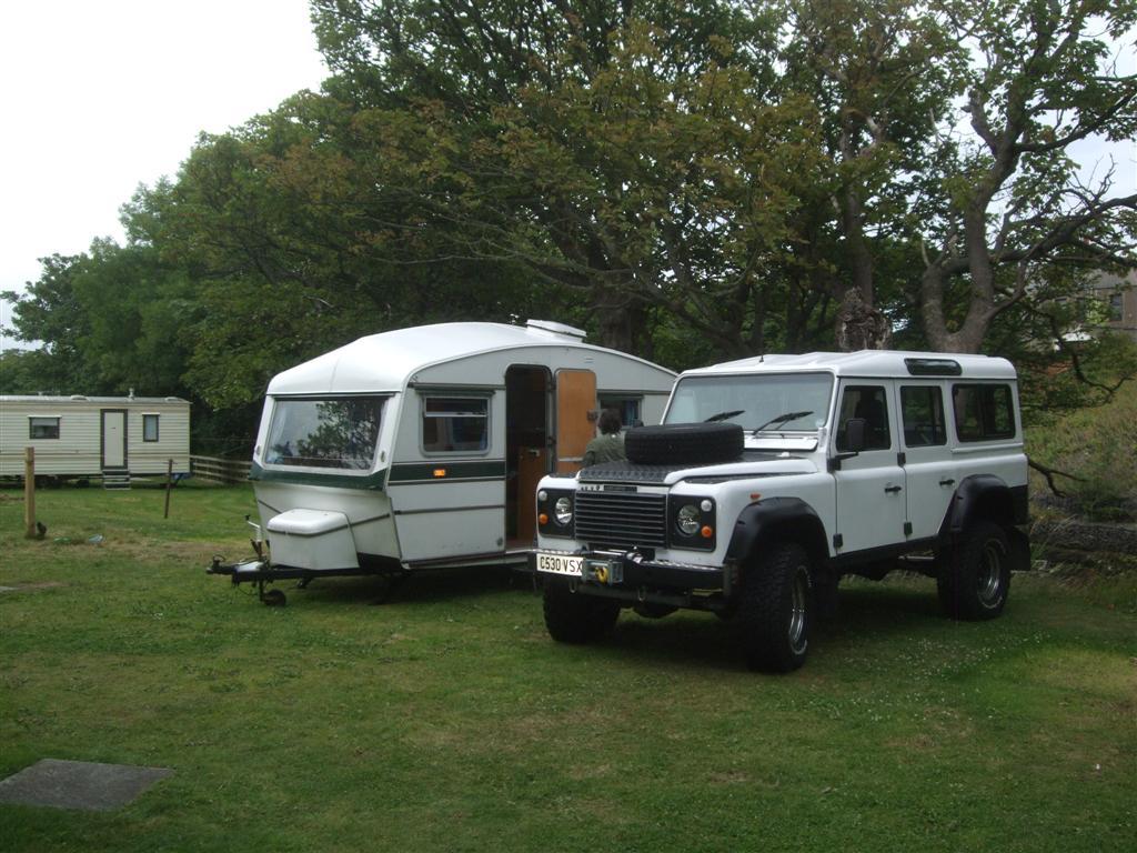 Old 'landy' and older caravan