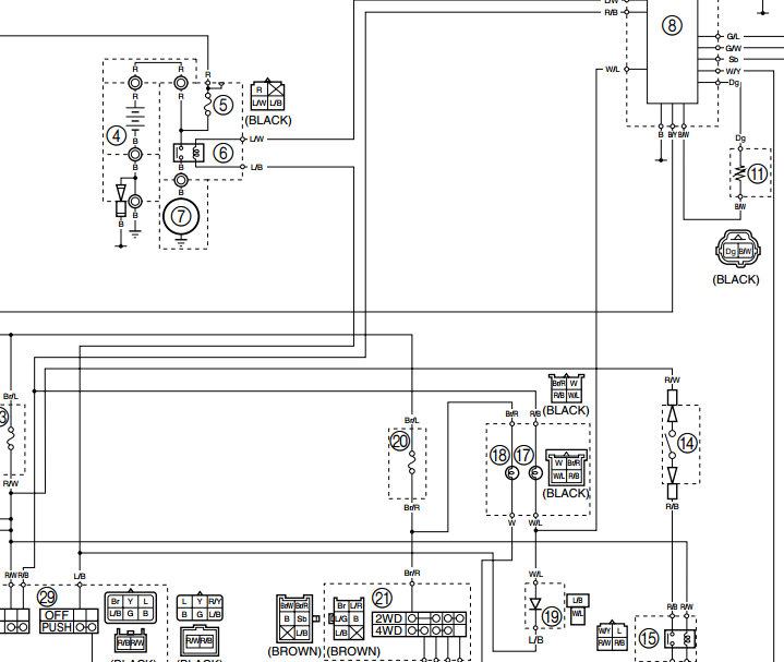 YFM 350 wiring diagram | Life at the end of the roadLife at the end of the road - WordPress.com
