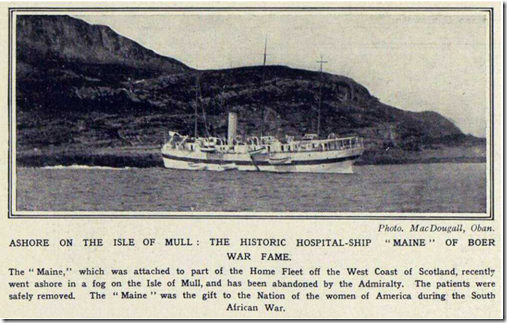 Maine aground